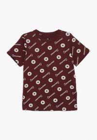 Converse - MICRO SIGNATURE CHUCK PRINTED TEE - Print T-shirt - dark burgundy - 0