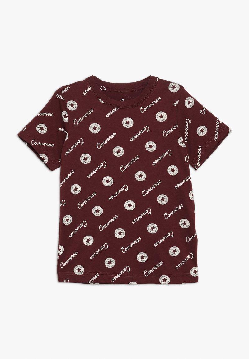 Converse - MICRO SIGNATURE CHUCK PRINTED TEE - Print T-shirt - dark burgundy