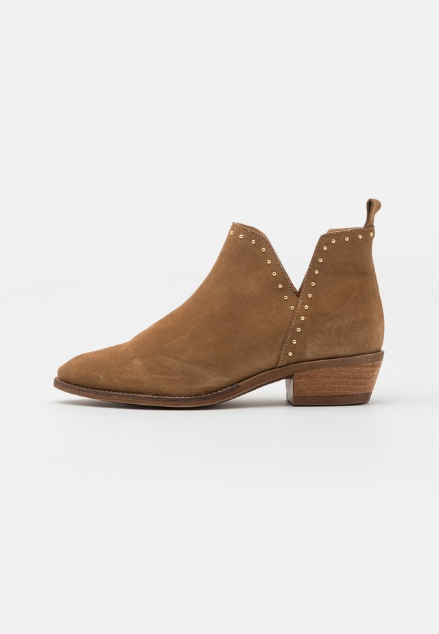 GIANNA - Ankelboots - taupe/gold
