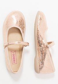 Friboo - Ballerina's met enkelbandjes - rose gold - 0