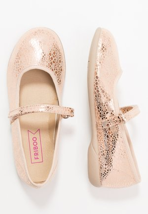 Ankle strap ballet pumps - rose gold