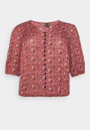 CURVE - Blouse - marsala/rosey