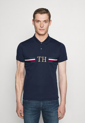 MONOGRAM CHEST SLIM - Polo - blue
