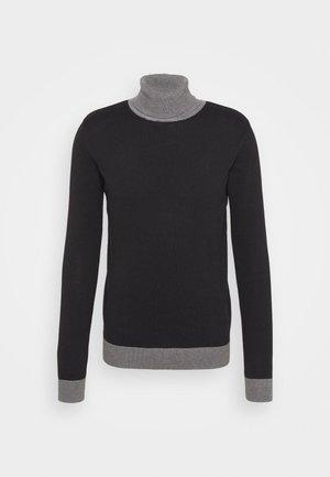 COBY - Neule - black/dark grey melange