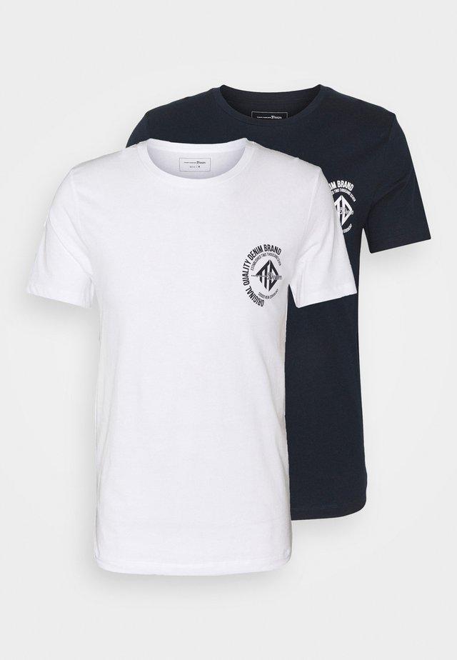 2 PACK - T-shirt imprimé - white