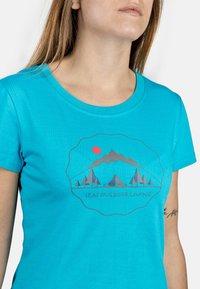 IZAS - T-shirt imprimé - turquoise - 5