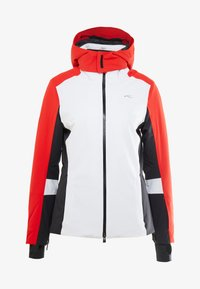 Kjus - WOMEN LAINA JACKET - Skijacke - white/fiery red - 6