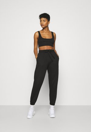 SCOOP NECK BRALET 90'S SET - Tracksuit bottoms - black