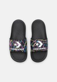 Converse - ALL STAR SLIDE SPLATTER PRINT UNISEX - Mules - black/light zitron/white - 3