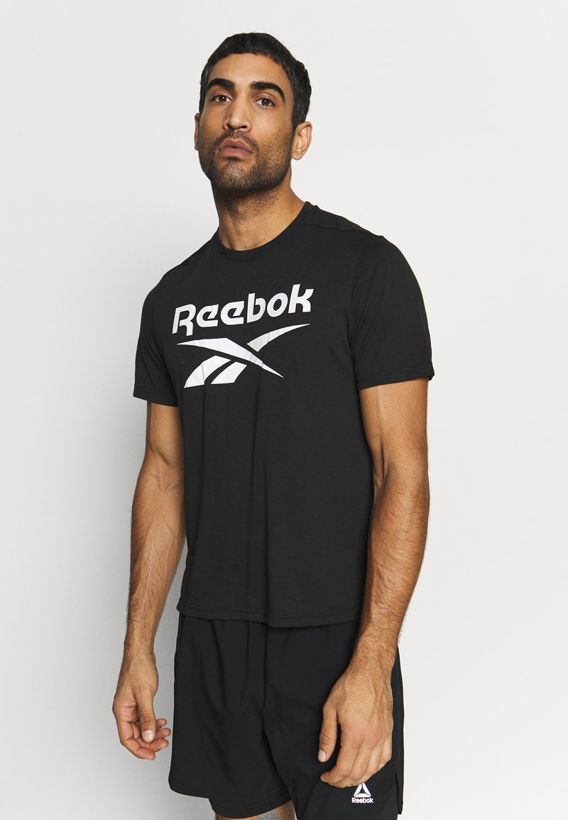 Reebok - WOR SUP GRAPHIC TEE - T-shirt print - black
