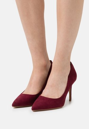 WIDE FIT DELE POINT STILETTO - Tacones - oxblood