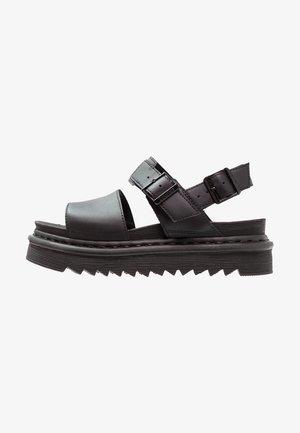 VOSS - Sandały na platformie - black