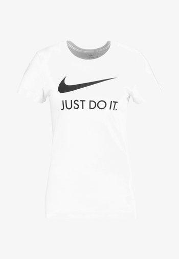 W NSW TEE JDI SLIM - T-shirt print - white/black