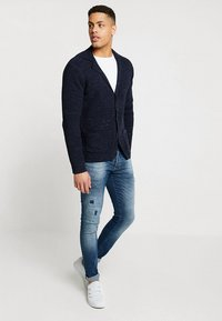 Pier One - Cardigan - mottled dark blue - 1