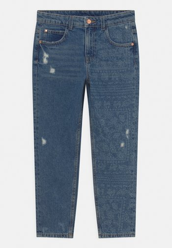 PRINT - Relaxed fit jeans - blue denim