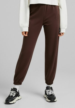 PLÜSCH - Spodnie treningowe - brown