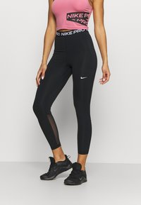 Nike Performance - 365 7/8 HI RISE - Leggings - black/white - 0