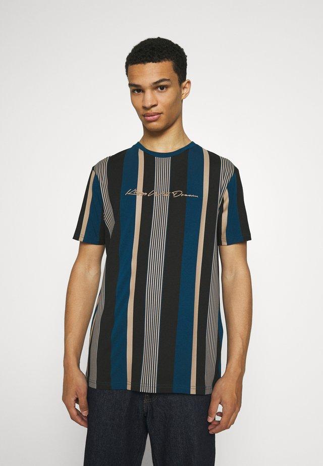 REPTON STRIPE TEE - T-shirt print - sailor blue/sand/black