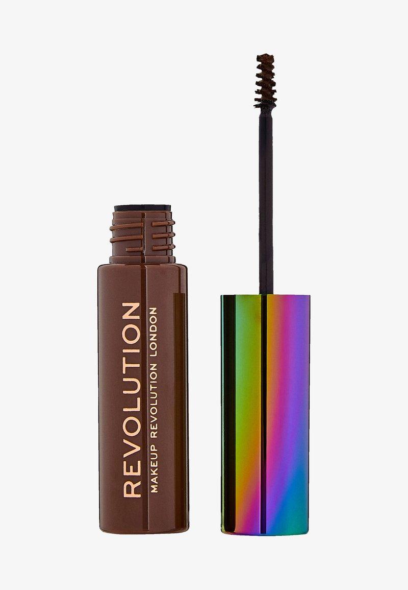 Make up Revolution - HIGH BROW GEL WITH CANNABIS SATIVA - Eyebrow gel - medium brown
