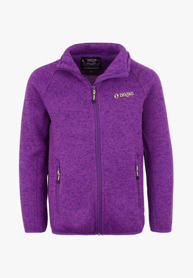 ZIGZAG - Fleece jacket - purple