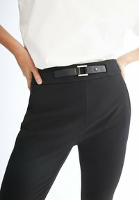 Massimo Dutti - FLANELL  - Trousers - black - 2