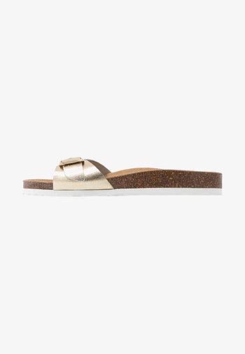 ONLMADISON LEATHER SLIP  - Pantoffels - gold