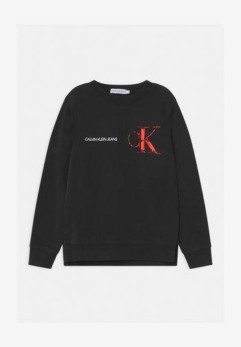 RAISED MONOGRAM - Sweatshirt - black