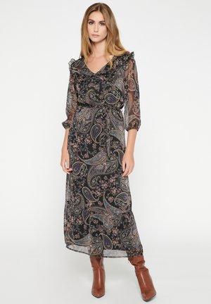 WITH FLORAL PRINT - Korte jurk - purple