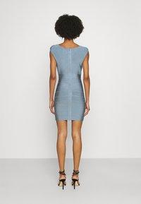 Hervé Léger - SWEETHEART CAP ICON DRESS - Shift dress - abalone - 2