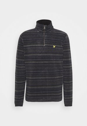 FAIRISLE HALF ZIP - Fleece jumper - black