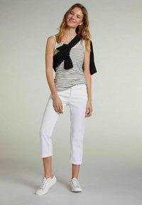 Oui - Trousers - optic white - 1