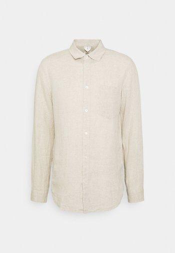 Linen Shirt - Skjorta - beige
