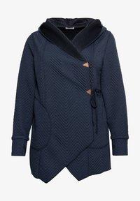 Sheego - Zip-up hoodie - nachtblau - 4