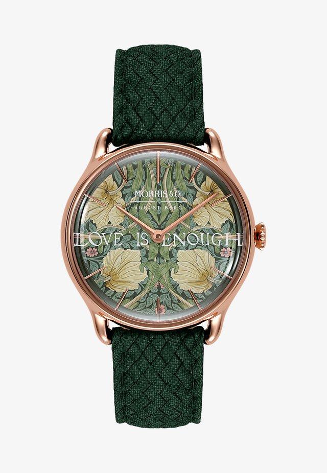UHR MORRIS & CO ROSE GOLD GREEN PERLON 30MM - Ure - fennel