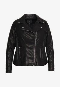 Forever New Curve - GLAM BIKER JACKET - Faux leather jacket - black - 0