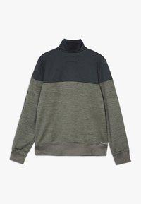 Hurley - SOLAR 1/2 ZIP - Sweatshirt - clay green heather - 1