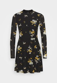 Even&Odd - Day dress - black / yellow - 4