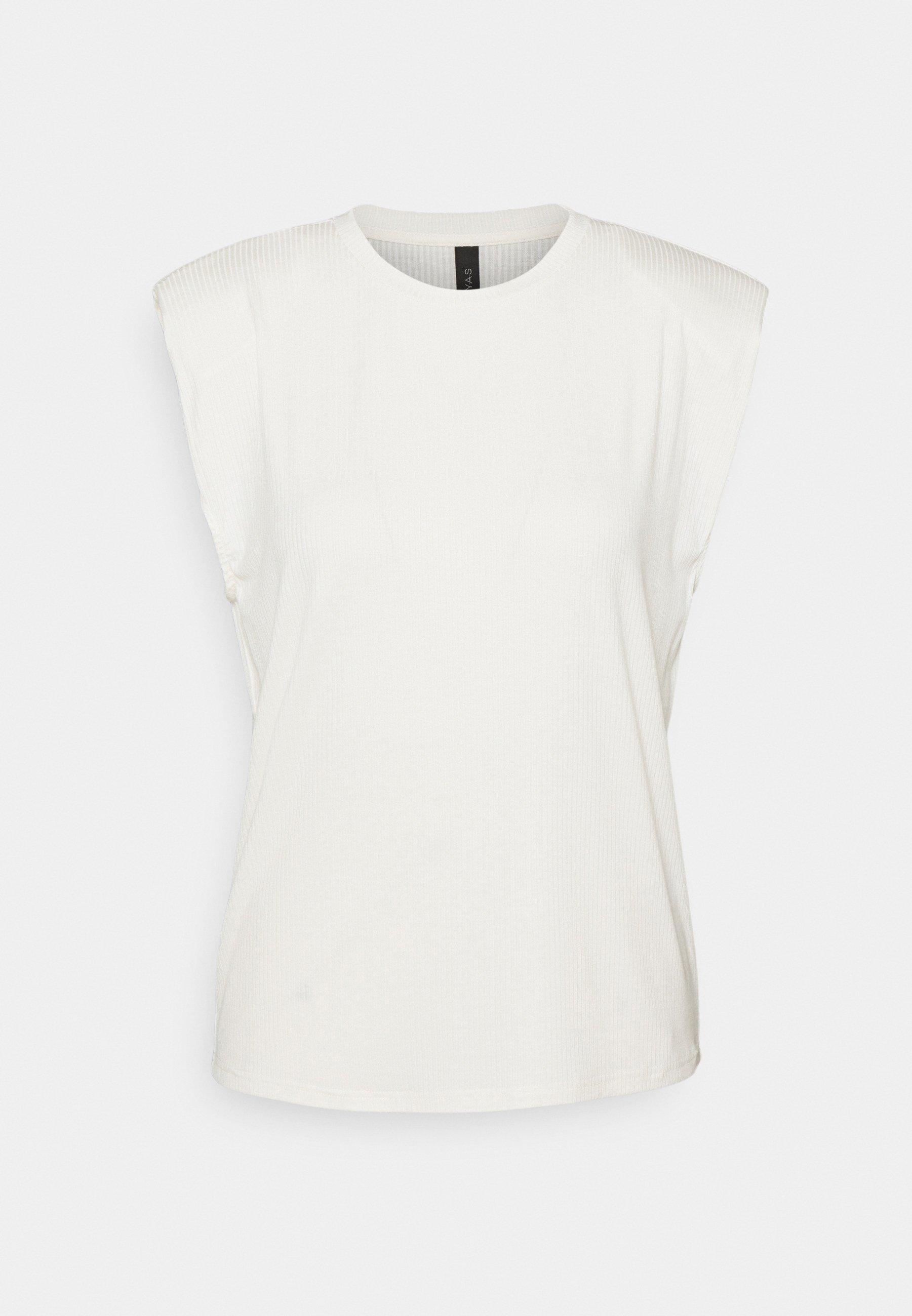 Women YASELLE PADDED SHOULDER  - Basic T-shirt