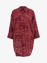 Monki - AMY UNIQUE - Košilové šaty - dark red/orange - 3