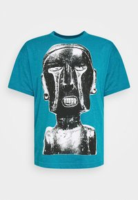 Obey Clothing - EARTH CRISIS - Print T-shirt - turquoise - 0