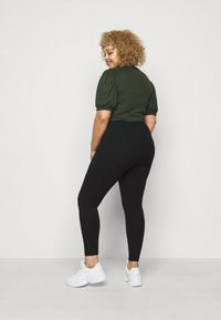 CAPSULE by Simply Be - ZIP DETAIL SHAPER - Leggings - Trousers - black - 2