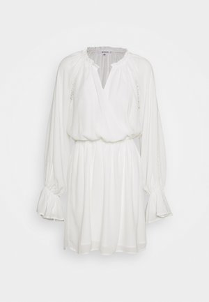 PLUNGE PANELLED MINI DRESS - Robe d'été - white