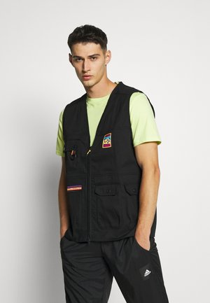 GILET SPORTS INSPIRED REGULAR VEST - Waistcoat - black