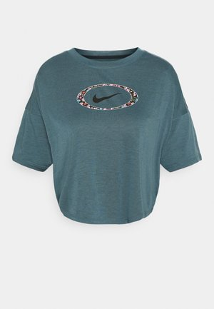 DRY CROP FEMME - T-Shirt print - ash green/deep ocean/black