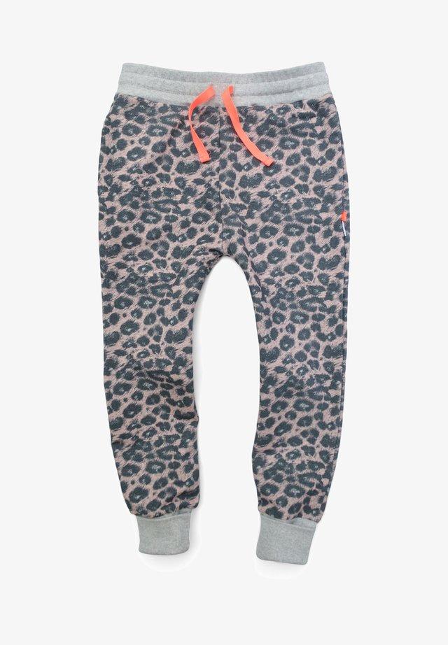 Tracksuit bottoms - pink leo