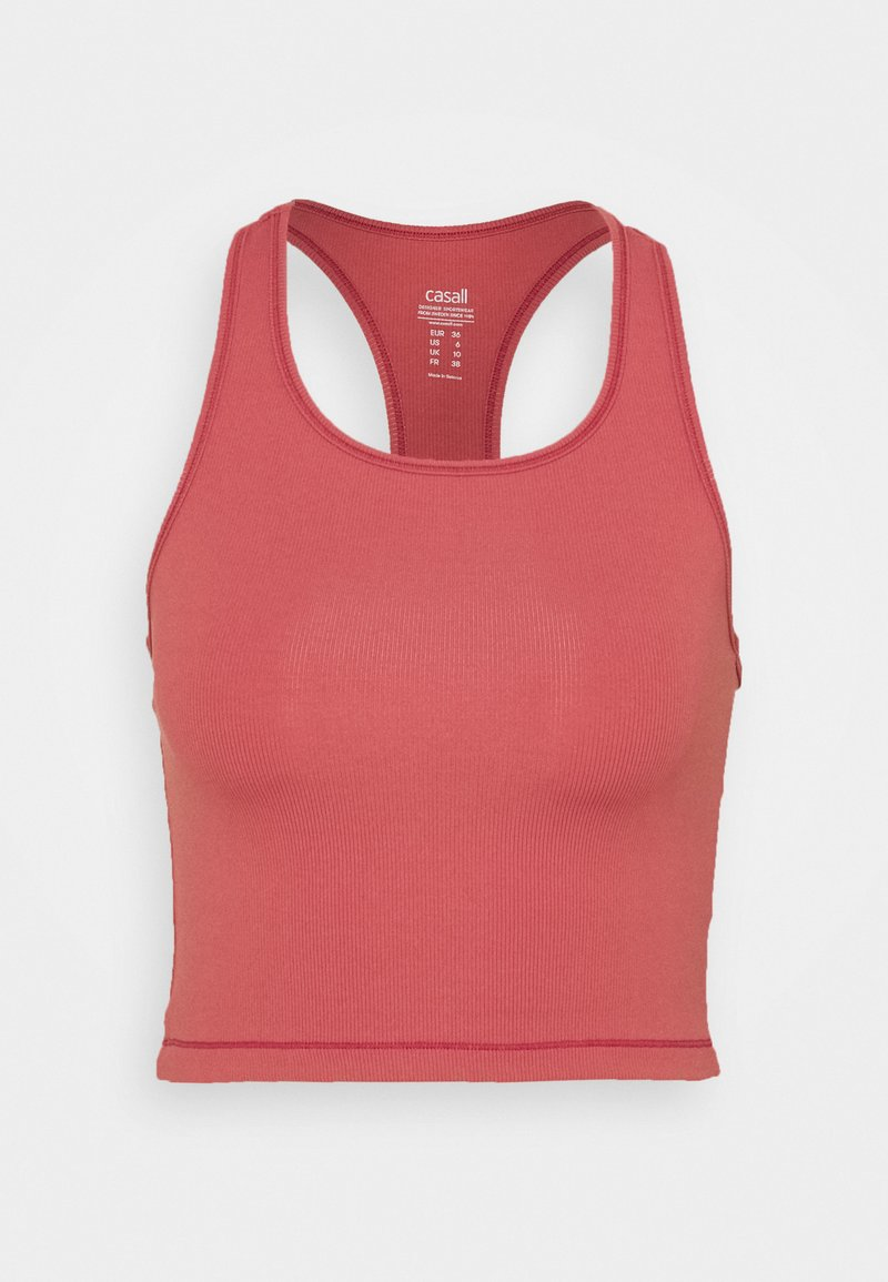 Casall - BOLD CROP TANK - Top - comfort pink