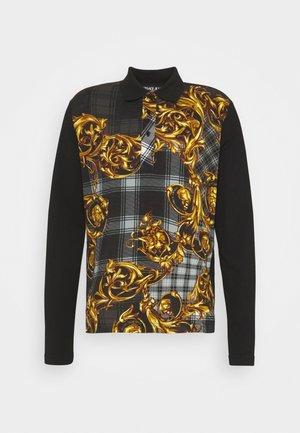 PRINT TARTAN BAROQUE - Poloshirt - grigio/oro