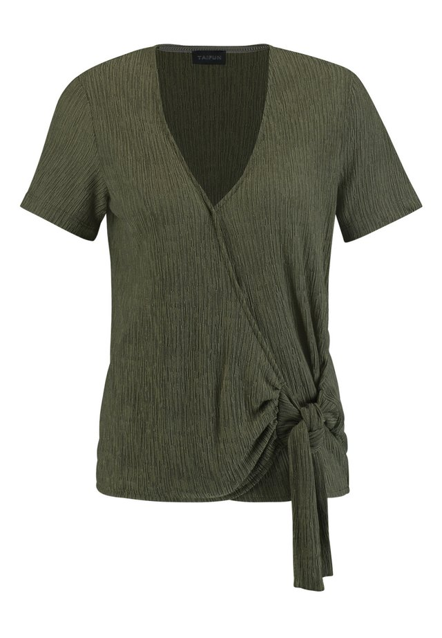 MIT KNOTEN-DETAIL - T-Shirt print - soft khaki