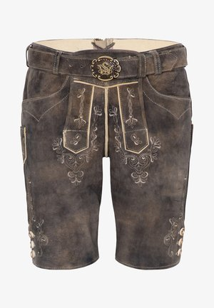 PETER - Leather trousers - brown