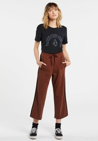 Volcom - GANGSTONE - Tracksuit bottoms - brick - 0